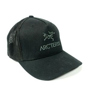 Arc'teryx Bird Logo Trucker Hat Baseball Cap Black